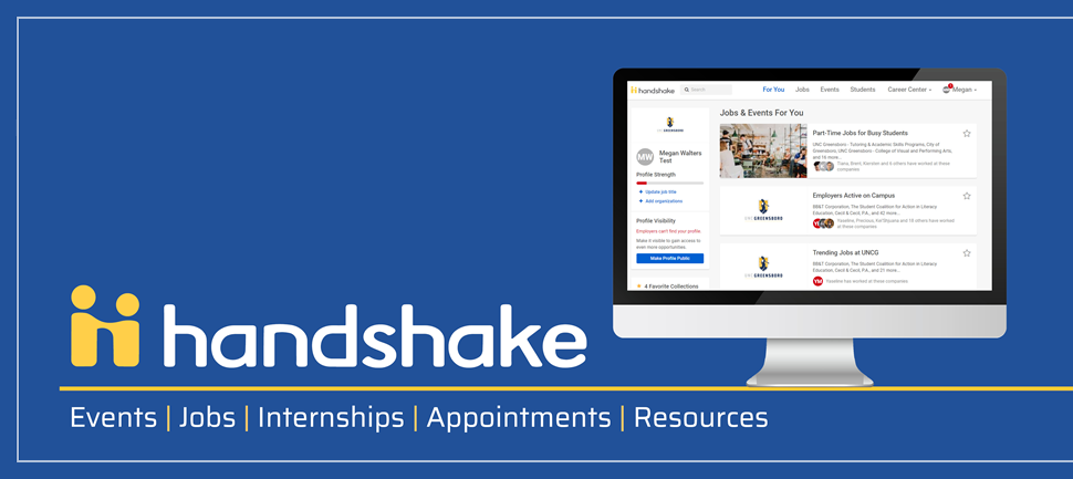 Handshake: Events, Jobs, Internships, Appointments, Resources