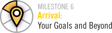 Milestone 6 Arrival:Your Goals and Beyond