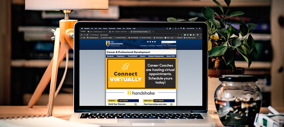 Connect Virtually! Career Coaches are hosting virtual appointments. Schedule yours today!